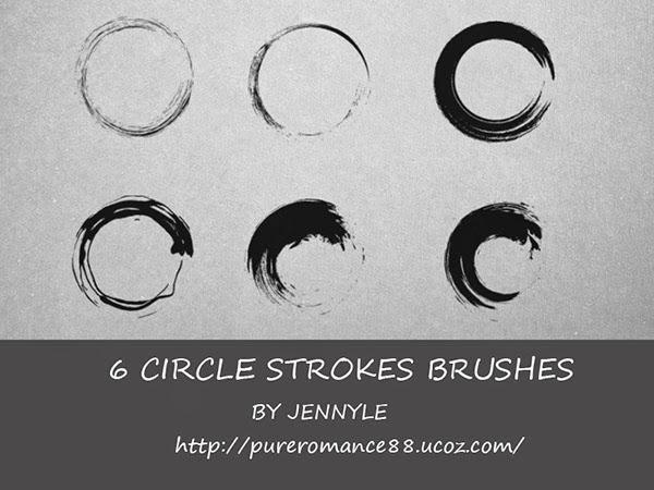 free brushes, circle stroke brushes, asian art brushes, asian circle stroke brush, photoshop brushes