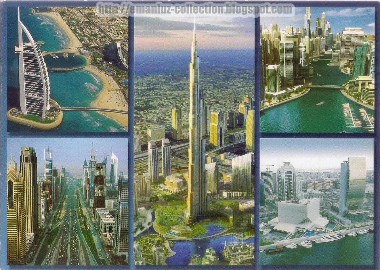 Postcards United Arab Emirates Burj Khalifa Burj Al