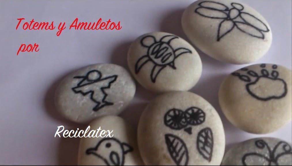 Reciclatex Cómo hacer amuletos con piedras o tótems - video tutorial