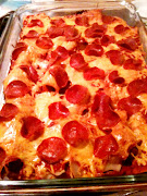 Gluten Free Sausage and Pepperoni Pizza Casserole