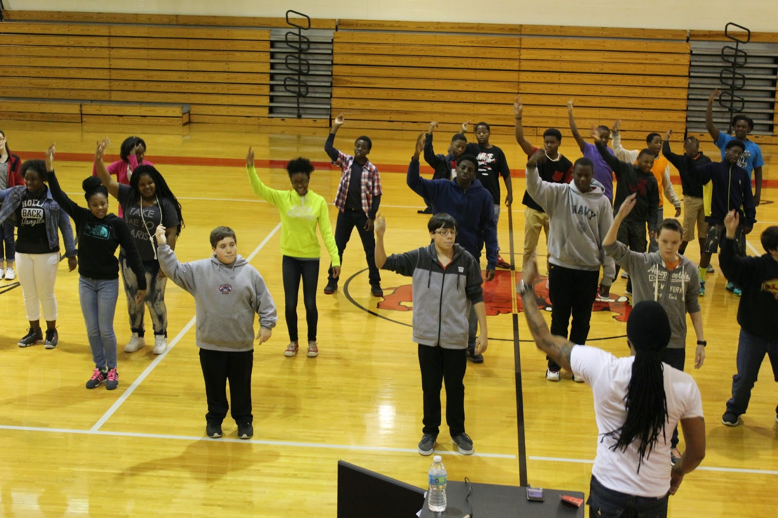 In Preparation For Stomp Dau0027 Yard, Vincent Johnson, A Hip Hop And Dance  Instructor Was Brought In. The Students, Teachers, Administrators, And  Visitors ...