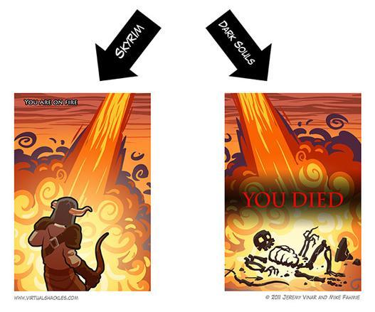Imagenes epicas, graciosas, etc; Dark Souls o Demons Souls Dragon%2Bvs%2Bskyrim%2Band%2Bdark%2Bsouls%2B02