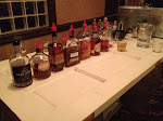 Typical Bourbon Tasting Lineup