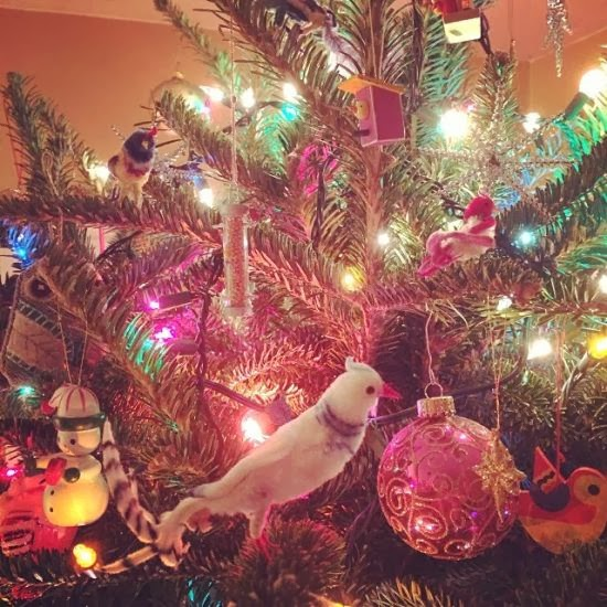 vintage bird christmas ornaments