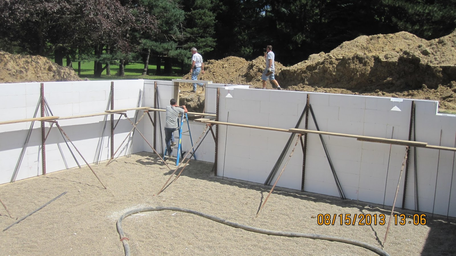 Energy Efficient Building Network Placing Concrete In