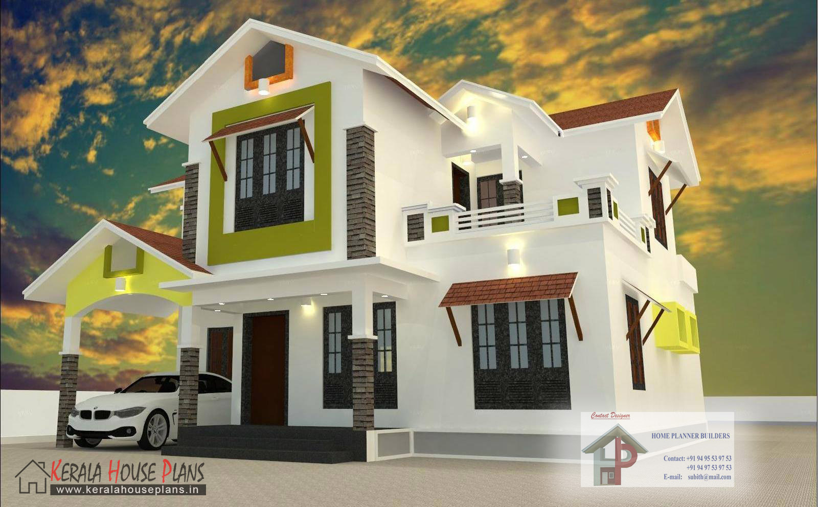 New house plans in kerala 2017 for New style home design