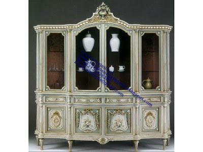 mebel jepara,Kabinet ukiran Kabinet jati jepara jual mebel jepara classic antique ukir jati Duco French code kabinet ukir 0123 jual mebel jepara