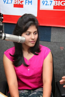 Actress Anjali Pictures in Pink Top at 92.7 BIG FM for Masala Movie Promotion  0016.jpg
