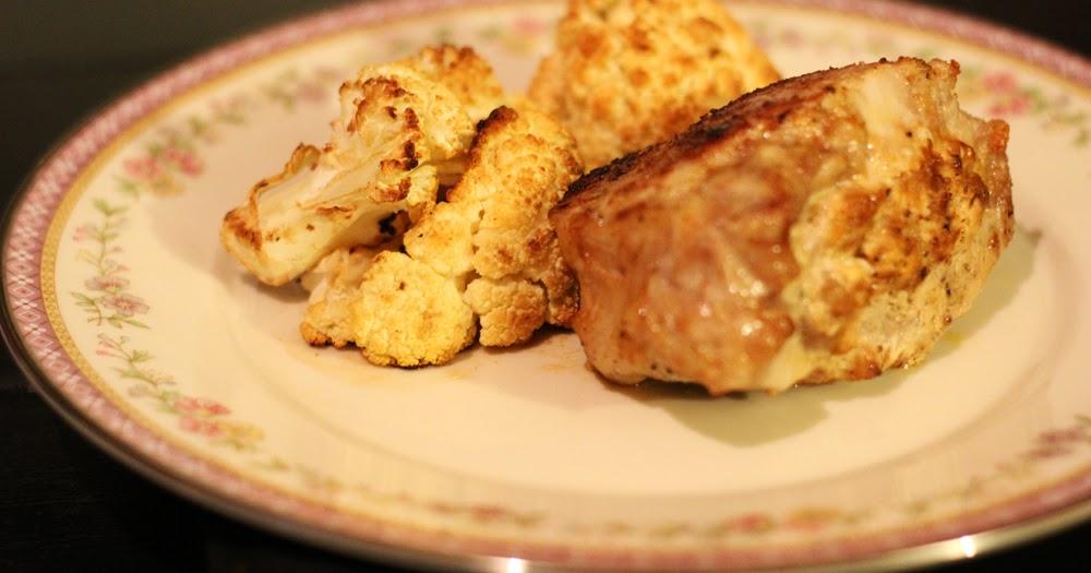 The Keto Chef: Stuffed Pork Chop with Roasted Cauliflower