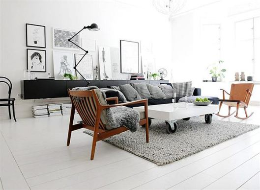 Landfair on furniture interior design ideas blending for Modern vintage interior design