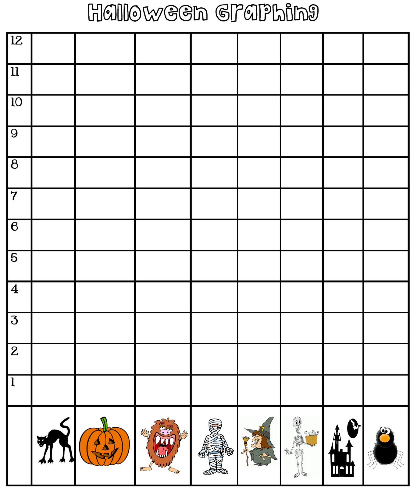 worksheet Halloween Graphing outside the box halloween graphing happy halloween