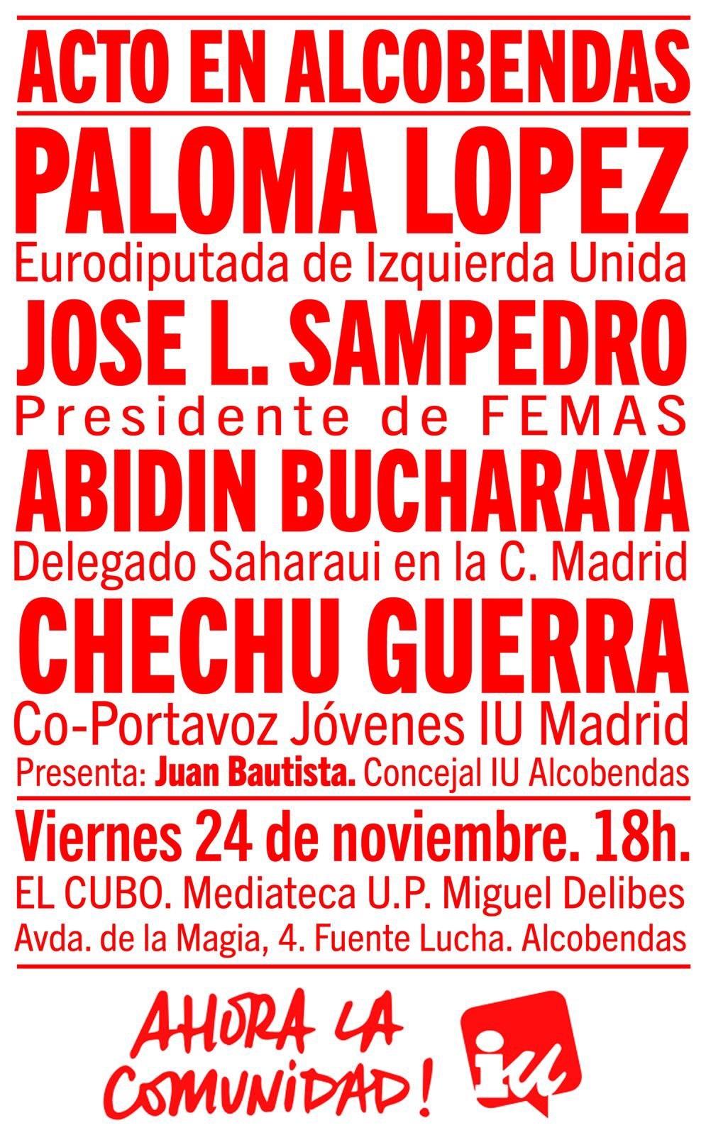 Acto Público en #Alcobendas