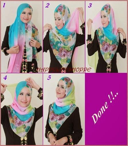 Hijab Tutorial Cara Memakai Jilbab Pashmina Wajah Bulat ...