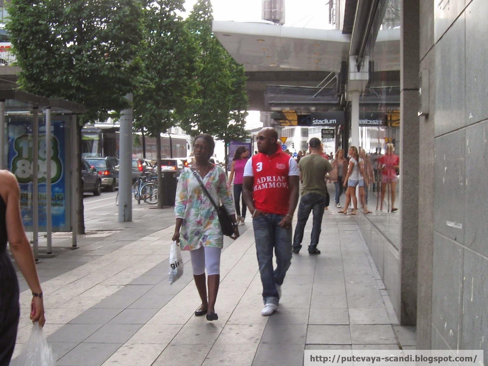 Walking through Stockholm