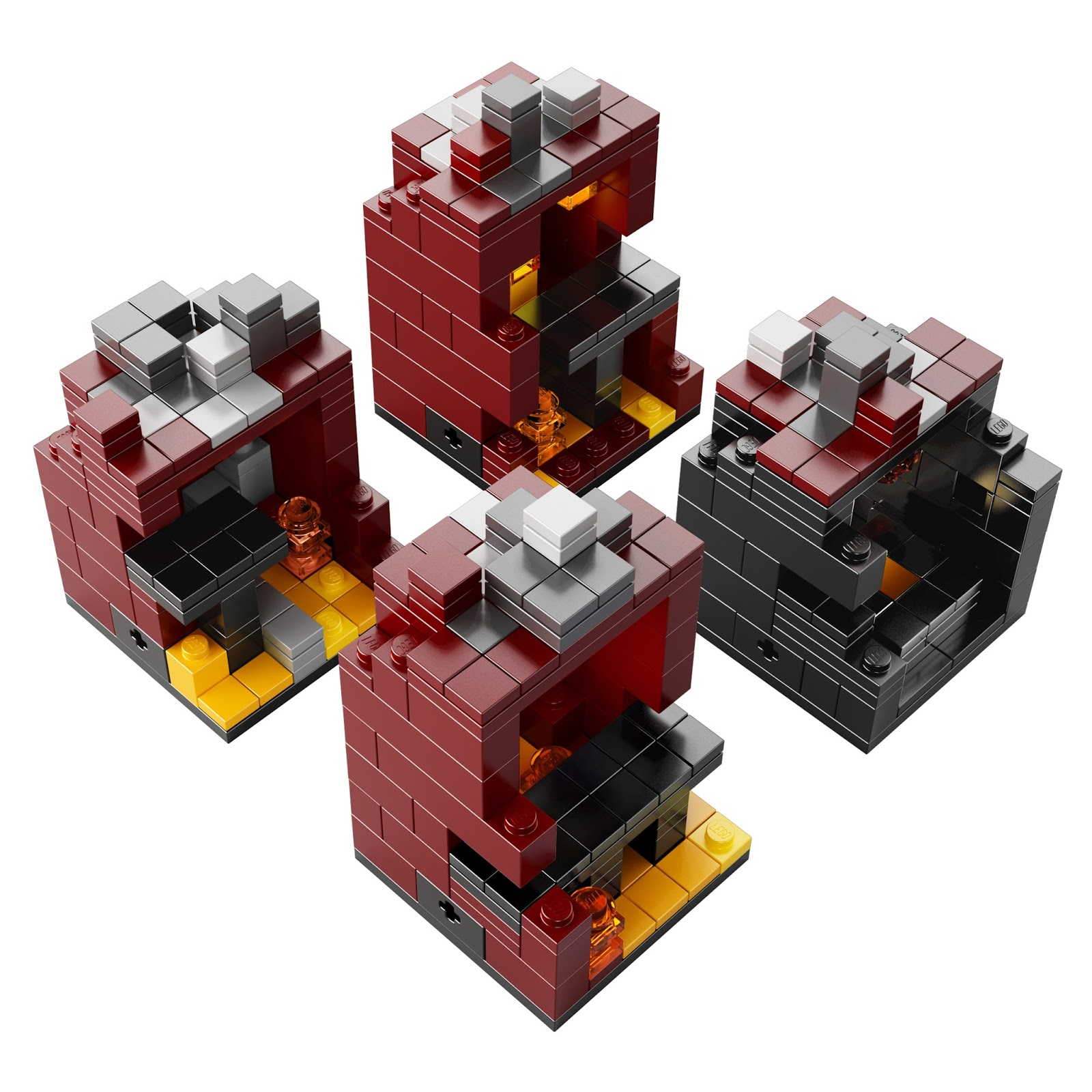 The brickverse official images of the new minecraft sets for Lego world craft