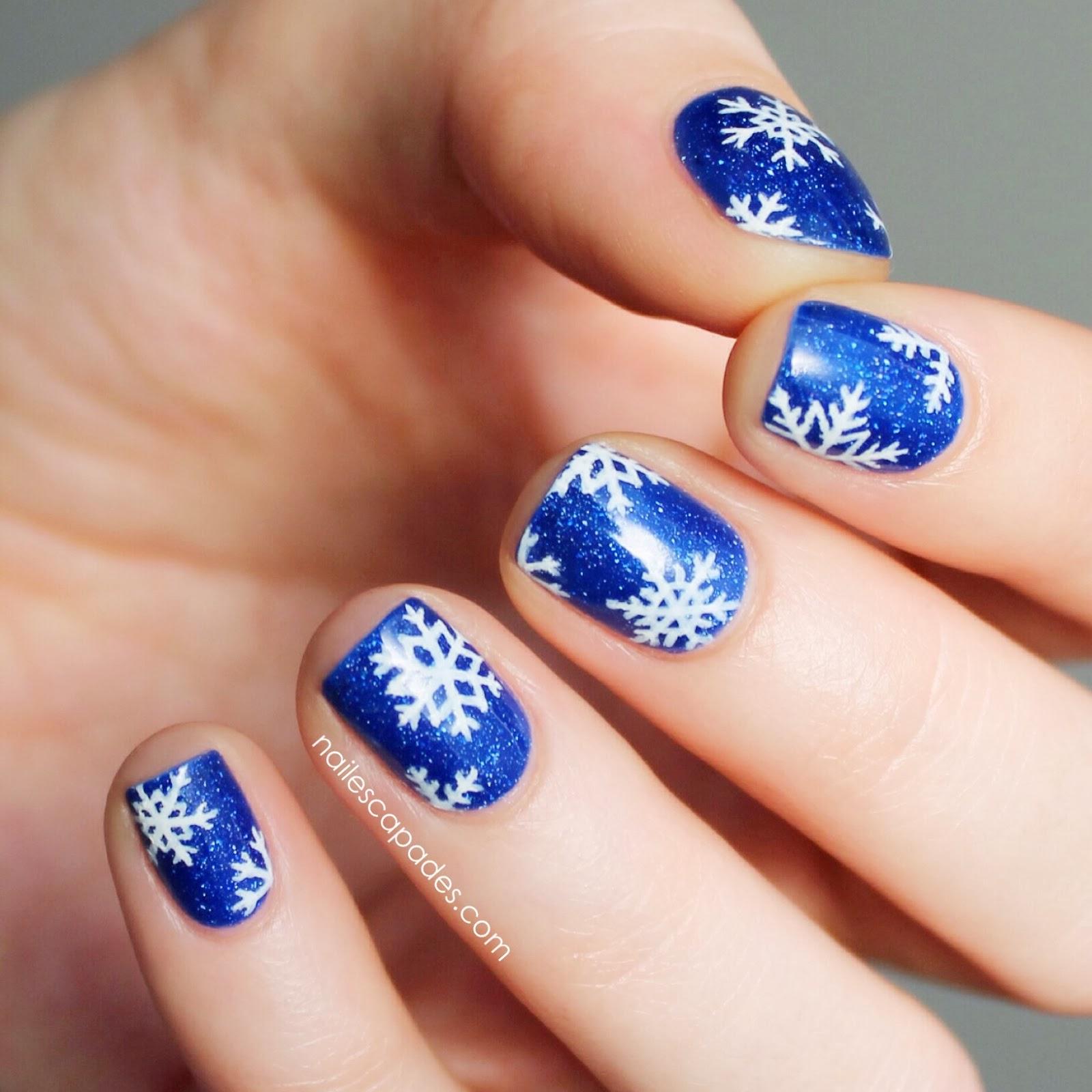 Snowflake Nail Art: Nail Escapades: Picture Polish
