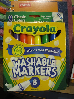 Markers made with recycled plastic