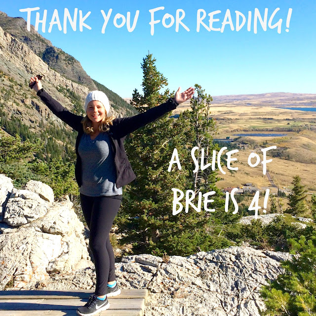 A Slice of Brie turns 4 and is giving away a book and gift card to Starbucks!