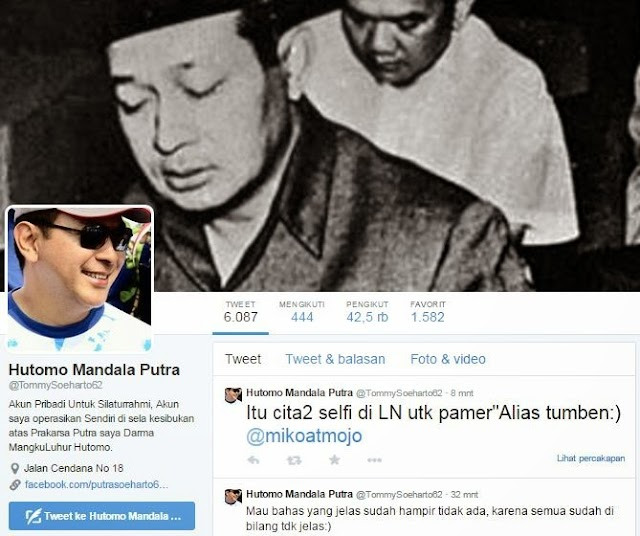 Tommy Soeharto Keluar dari Sarang: Membawa Sejuta Luka?