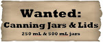Wanted: Canning Jars & Lids
