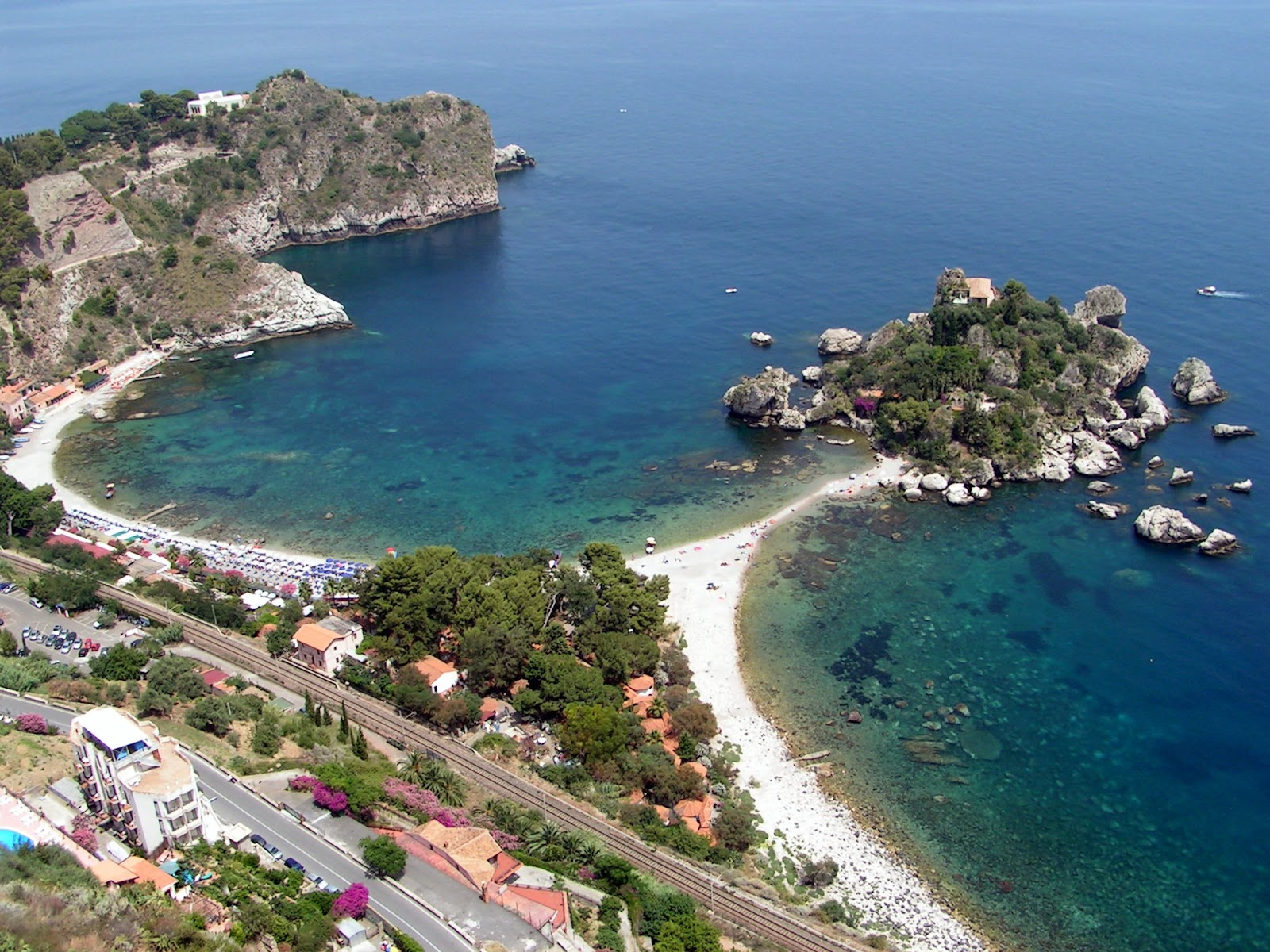 Italy-Sicily Taormina Beach Beautiful Nature Beach in Taormina