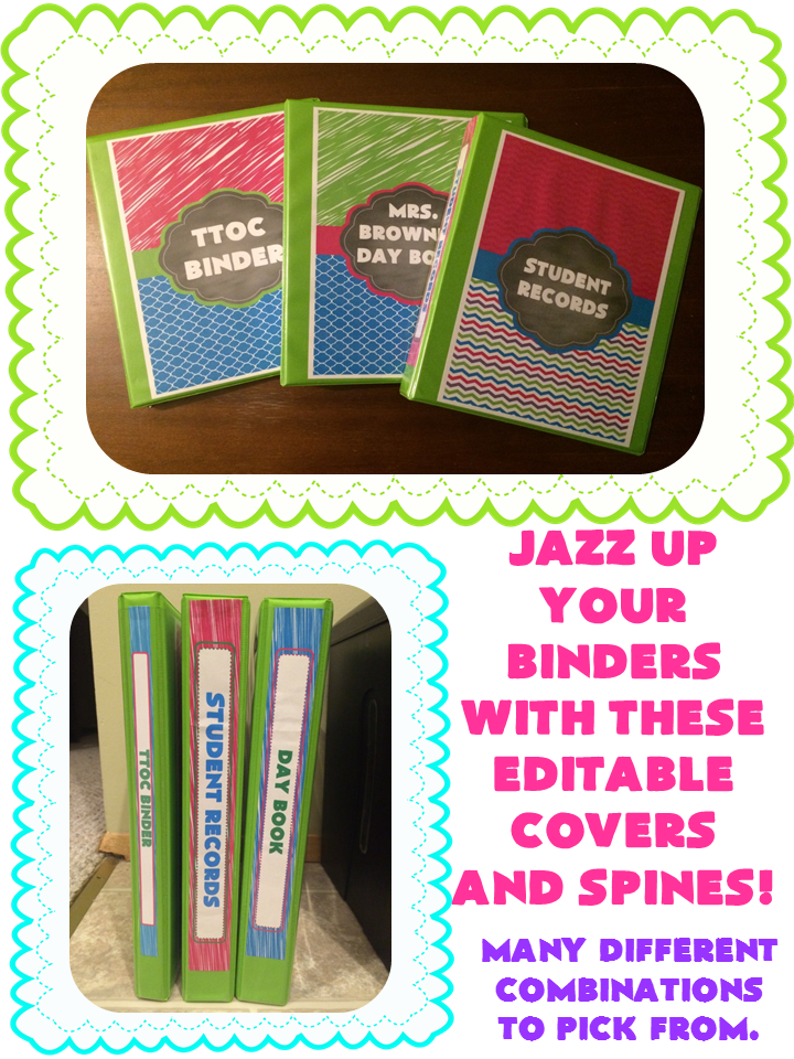 http://www.teacherspayteachers.com/Product/Editable-Binder-Covers-and-Spines-Brights-Collection-1357389