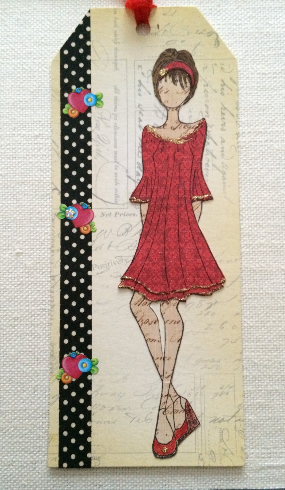 annie suzabella  paper doll tags with julie nutting stamps
