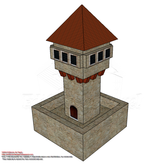 Medieval Watchtower paper model