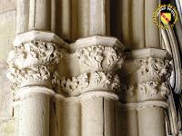 Toul - Cathédrale Saint-Etienne : Chapiteaux à feuillage du cloître