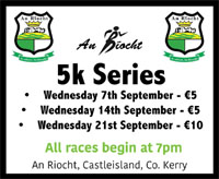 An Ríocht Autumn 5k series in Castleisland, Kerry...Wed 7th, 14th & 21st Sept 2016