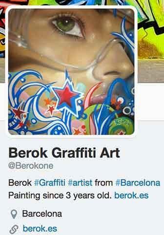 Grafitero español en instagram y twitter