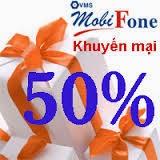 Khuyến mại 50% giá trị thẻ nạp 2 ngày cuối năm của Mobifone