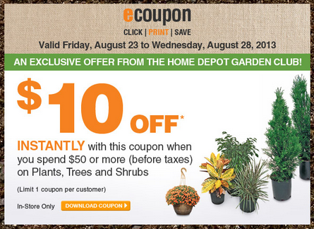 Home Depot Coupons December 2014