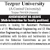 Assistant Professors jobs on ad-hoc basis in Tezpur University, Assam, 2015
