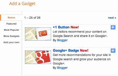 Google +1 button and Badge