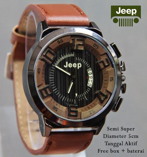Jeep Date Leather coklat