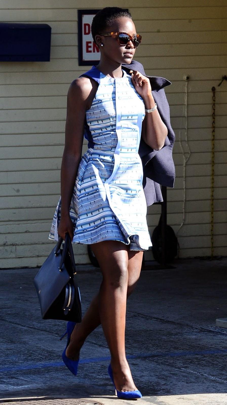 Lupita Nyong'o in Mini Dress – Leaving the Moonshadows Restaurant in Malibu