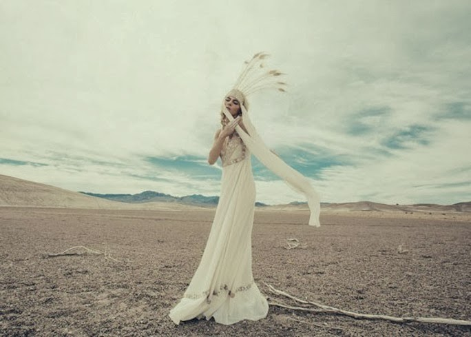 Mara Hoffman boho bride dress