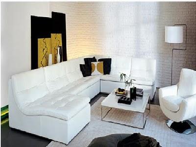 Salas Modernas: Muebles de sala color marrón y color blanco ...