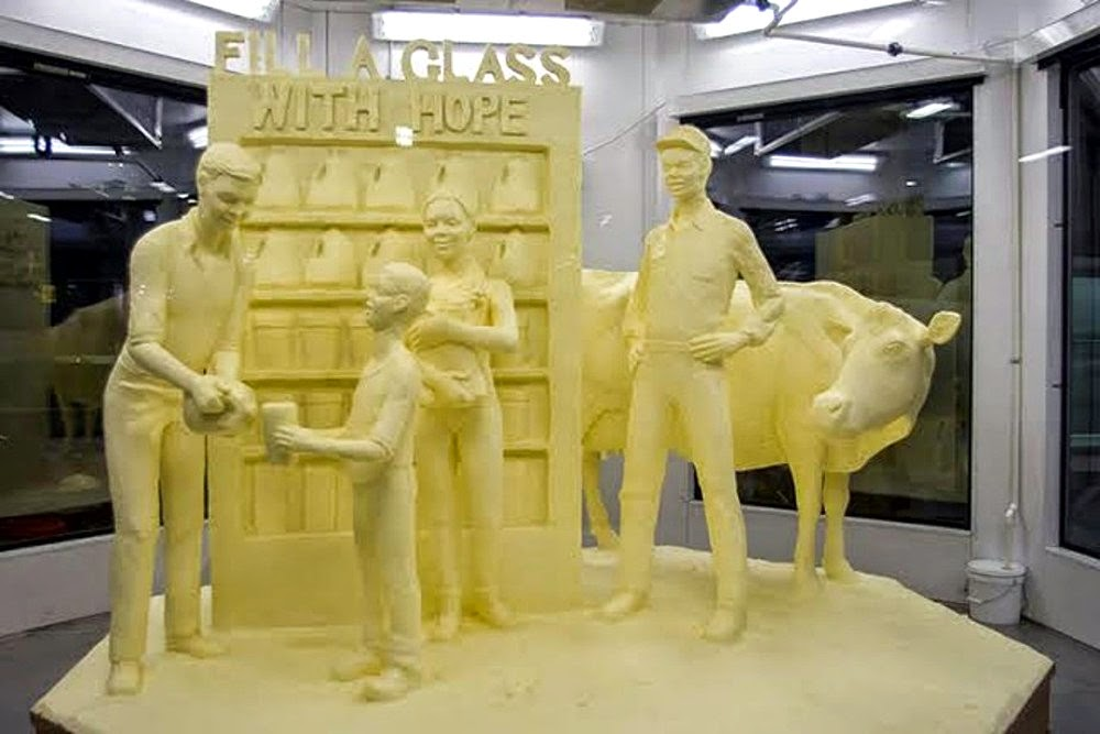 Butter sculpture at the 2015 Pennsylvania Farm Show