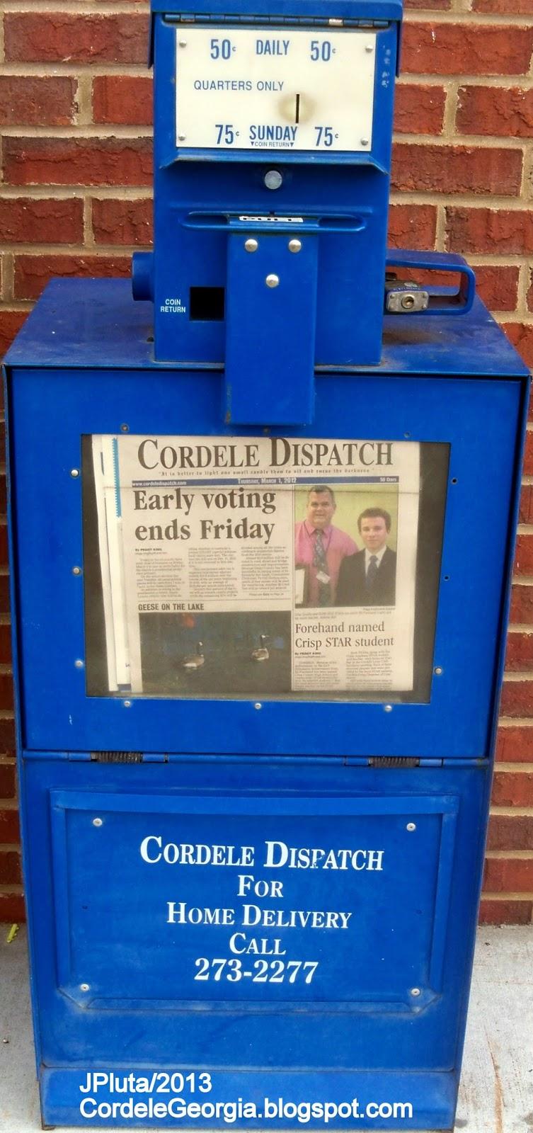 newspaper machine locations