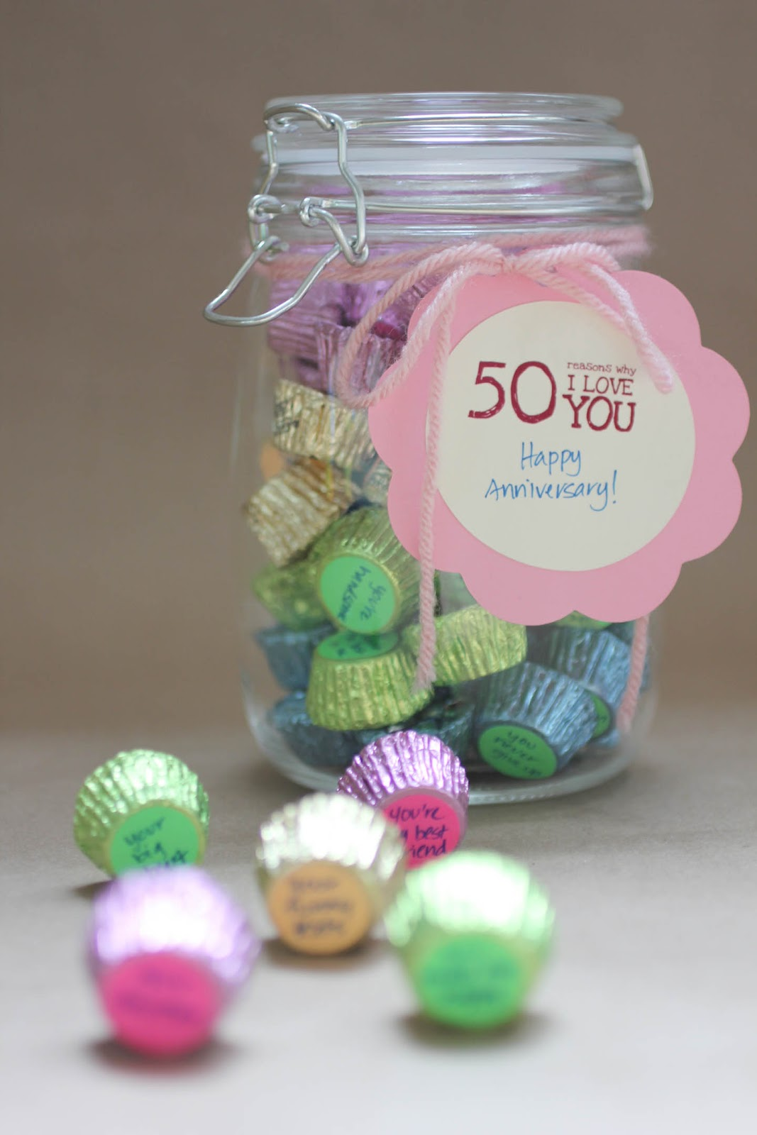 Quot 50 Reasons Why I Love You Quot Candy Jar Gift Repeat Crafter Me