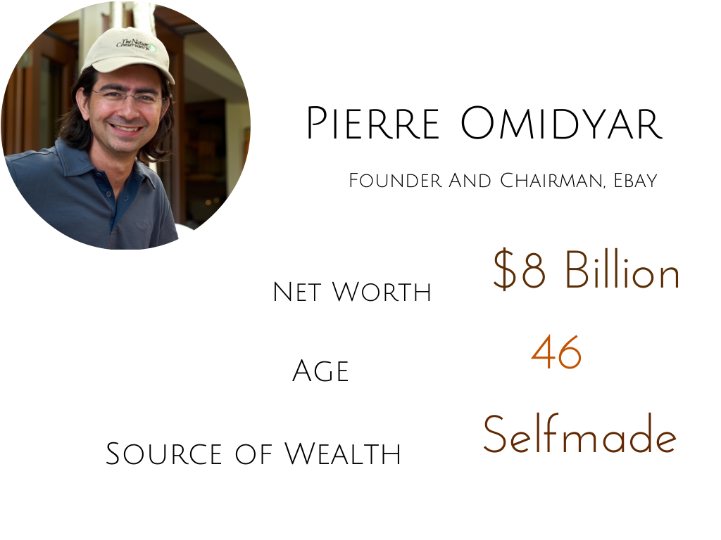 pierre omidyar, billionaire, bio, net worth, rich successful, ebay