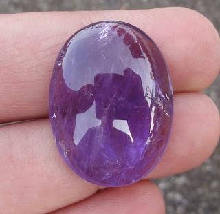 Batu Akik Kecubung Lavender