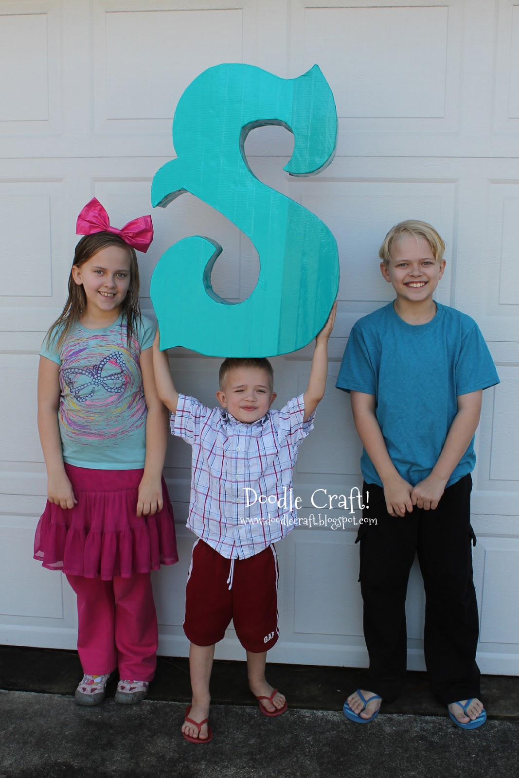 Doodlecraft diy ombre monogram s made from duct tape and for 3 foot cardboard letters