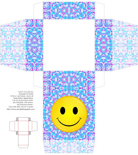 Smiley printable box by Don't Eat the Paste #printable #paper #groovy