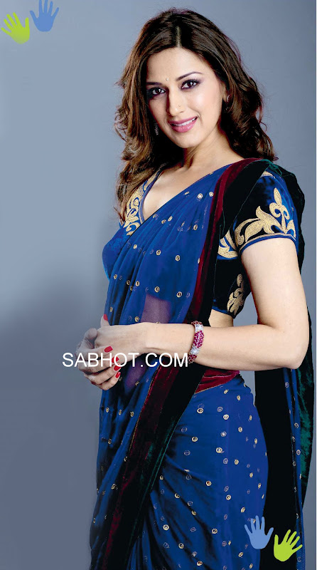 Sonali bendre blue saree - Sonali bendre in blue saree