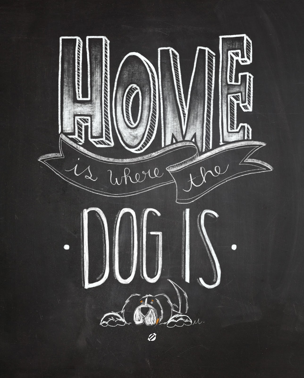 LostBumblebee ©2014 - MDBN- Home is where the dog is- Free Printable - Personal Use Only.