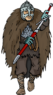 Ancient Army Hold a Sword Free Clipart