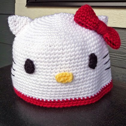 Hello Kitty Crochet Hat Pattern